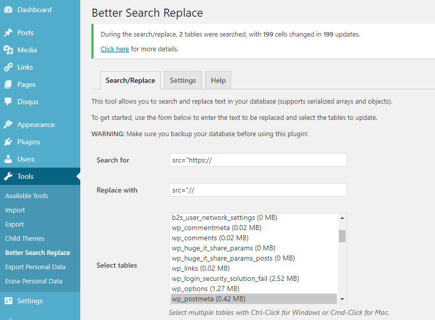 Use Better Search replace to replace the http links in your database without messing with the database directly