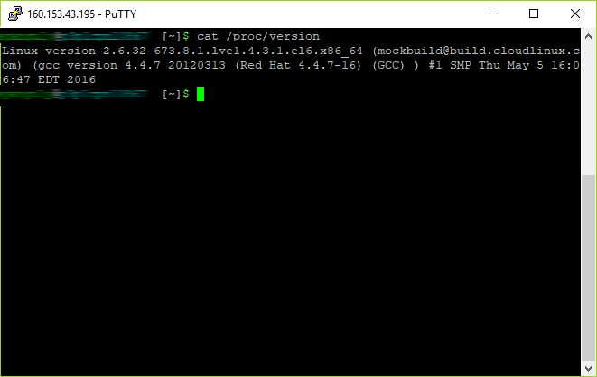 You can check your server operating system by this command