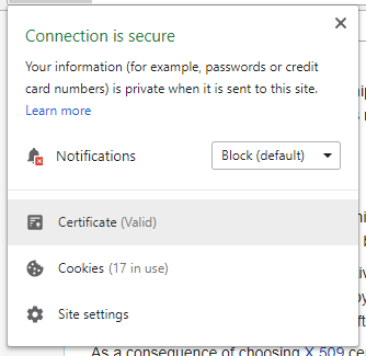 This is how secure websites are shown in the address/omni bar