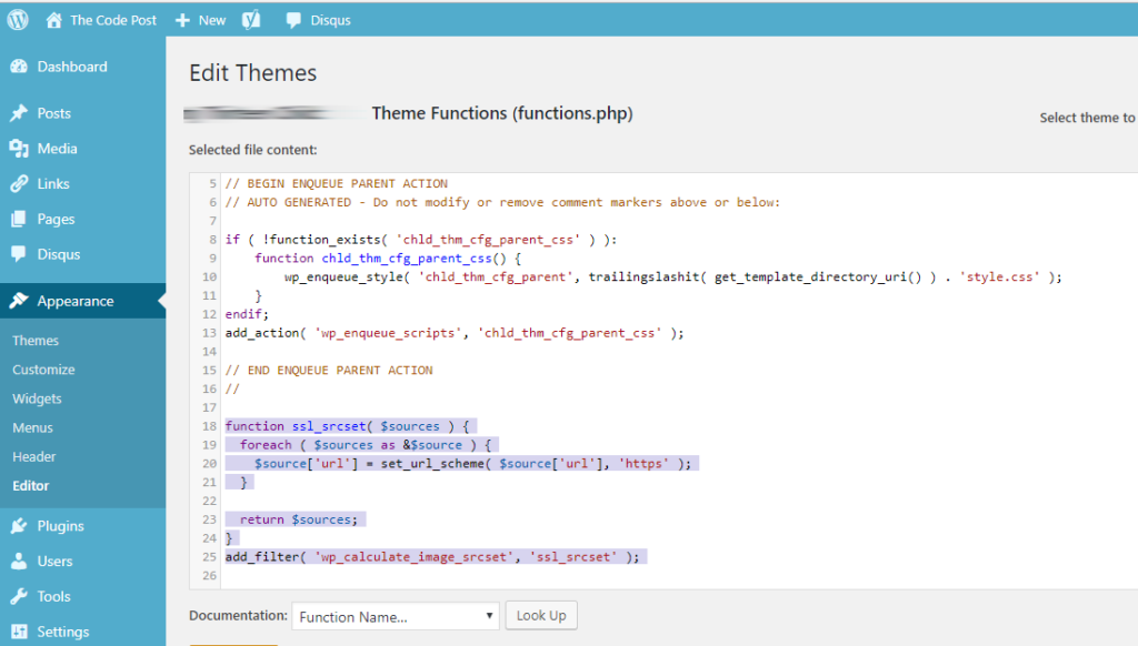 fixing srcset in wordpress theme functions.php to load correct files