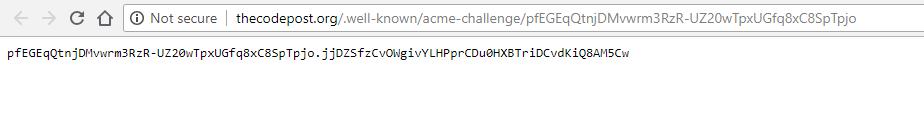 verification is successful for lets encrypt ssl using zerossl