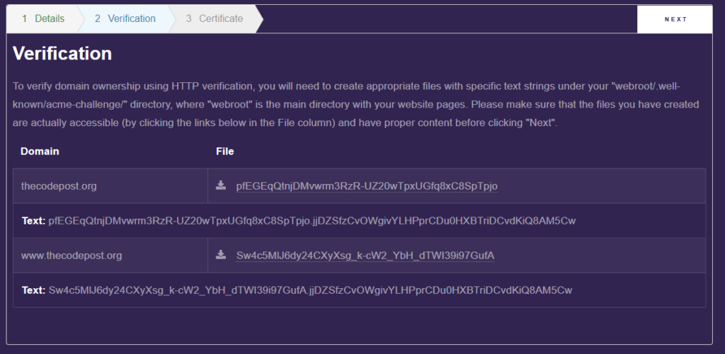 verify domain ownership lets encrypt ssl certificate