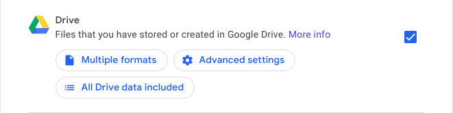 google drive for takeout