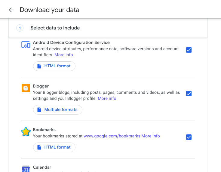 google takeout guide - backup your google account or migrate