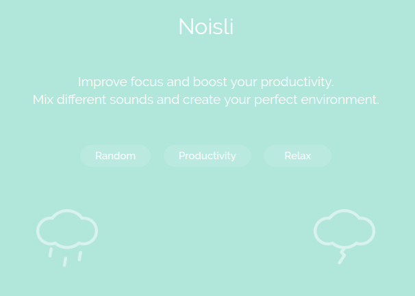productivity tips using tech noisli