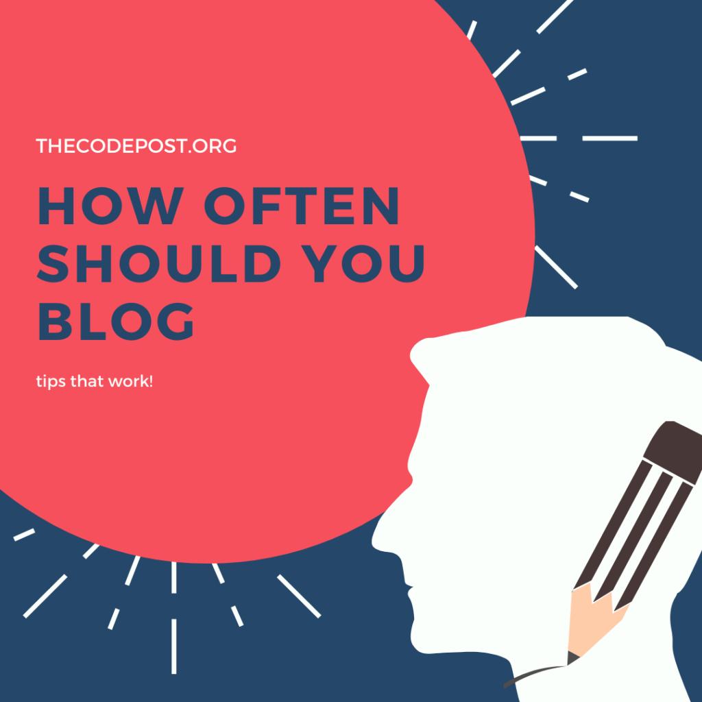 should you blog more often