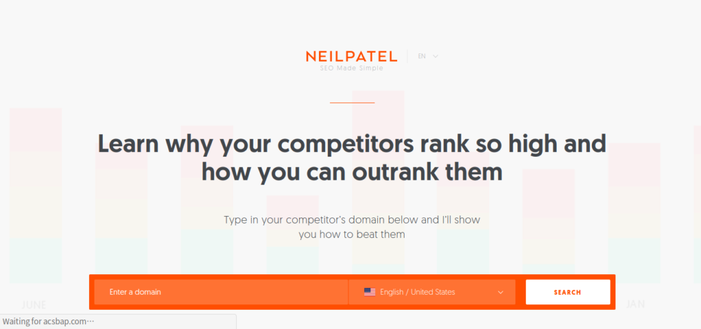 landing pages of neilpatel