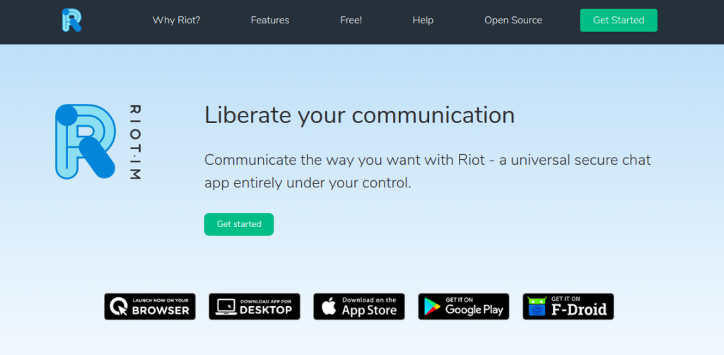 riot whatsapp alternative secure chat app image