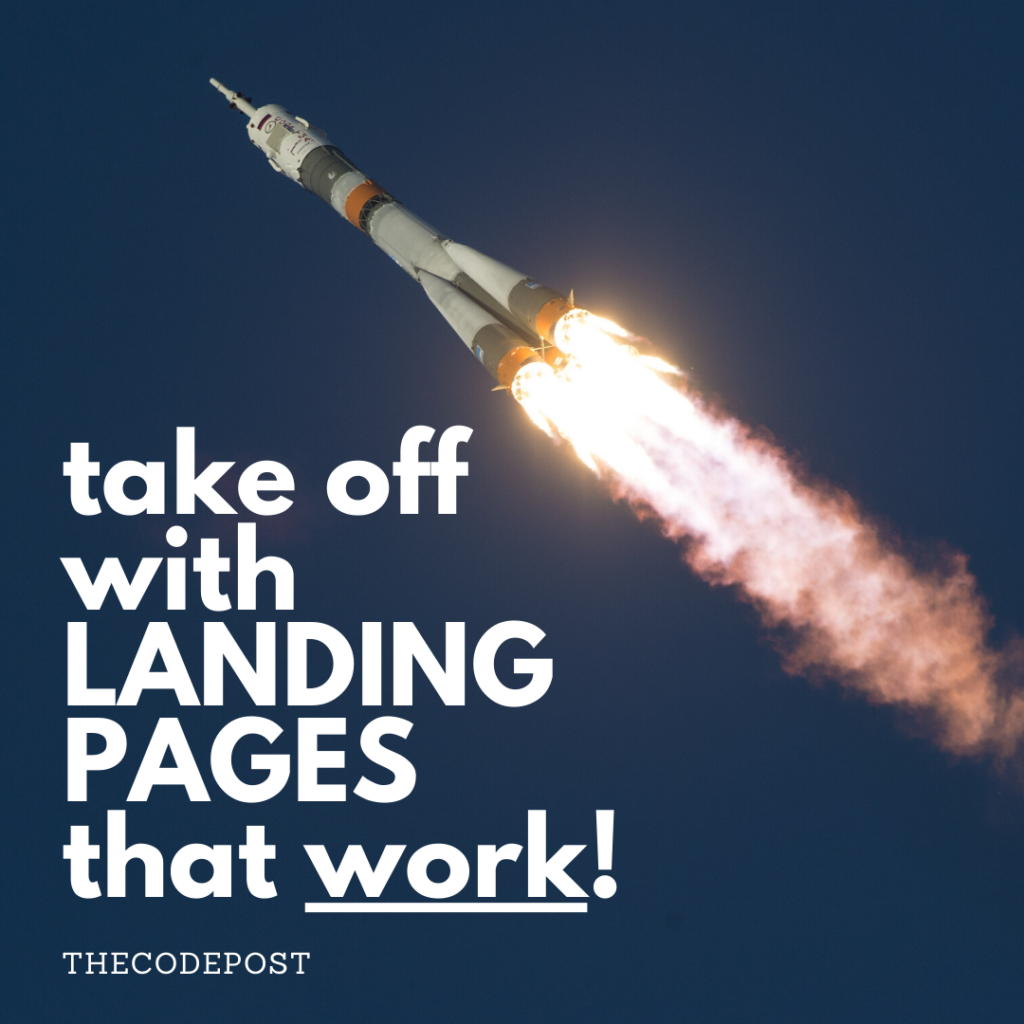 take off with landing pages that work in 2020
